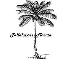 Black and White Tallahassee & Palm design Photographic Print