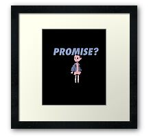PROMISE T-SHIRT Framed Print