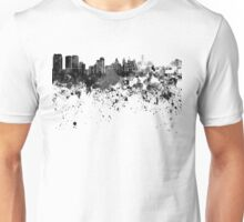 Philadelphia skyline in black watercolor Unisex T-Shirt