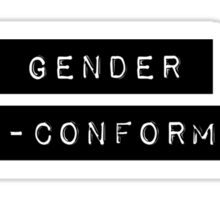 Labeled: Gender Non-Conforming Sticker