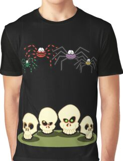 Spiders and Skulls Graphic T-Shirt