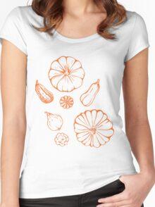 Pumpkin  pattern. Women's Fitted Scoop T-Shirt