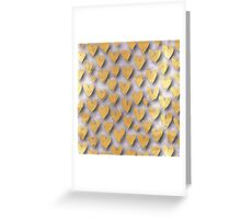 Silver,gold,hearts,heart,pattern,hand painted,modern,trendy,love,valentine,decorative,elegant,chic,cute,girly Greeting Card