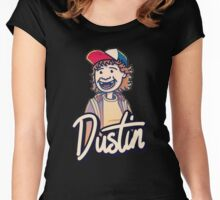 STRANGE-R THING-S - Dusti-n T-SHIRT Women's Fitted Scoop T-Shirt