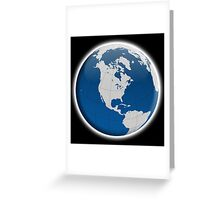 Globe, with borders, Earth, Global Greeting Card