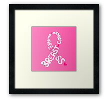 Breast Cancer Ribbon Framed Print