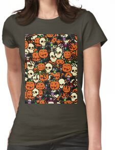 Halloween Hullabaloo  Womens Fitted T-Shirt