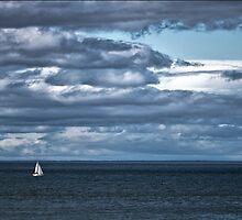 Yacht near Tarlair. by chazmilne