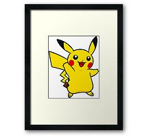 Pokemon pikachu Framed Print