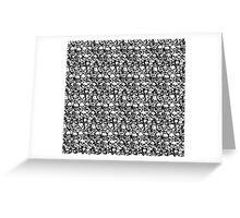 Skulls pattern Greeting Card