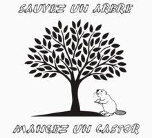 Sauvez un arbre, mangez un castor Kids Clothes