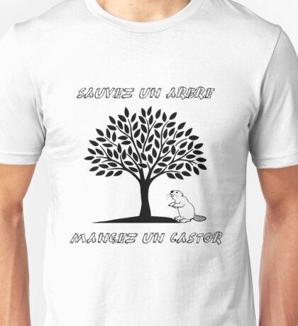 Sauvez un arbre, mangez un castor Unisex T-Shirt