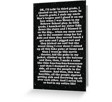 confession Greeting Card