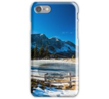 Iced lake in the alps iPhone Case/Skin