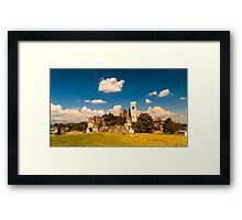 ancient and ruined castle in the italian countryside Framed Print