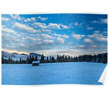 sunset after the first snowfall Poster