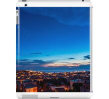 sunset on the city of Trieste iPad Case/Skin