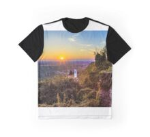 Sunset from a hill with a church down to the vineyards Graphic T-Shirt
