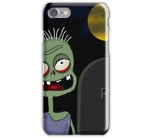 Halloween - zombie on the cemetery  iPhone Case/Skin