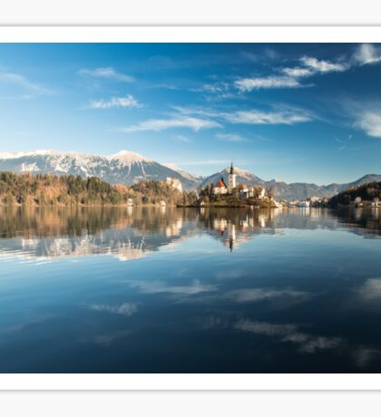 morning at the lake of Bled Sticker