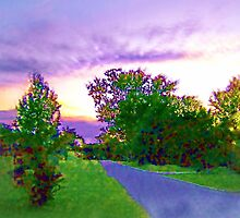 Air Brushed Landscape by allthingsnatura