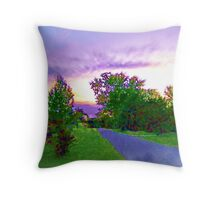Air Brushed Landscape Throw Pillow
