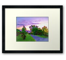 Air Brushed Landscape Framed Print
