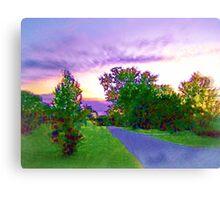 Air Brushed Landscape Canvas Print