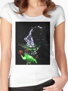 Frogger Splash Women's Fitted Scoop T-Shirt