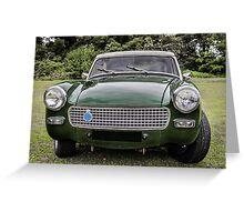 Classic sports car Greeting Card