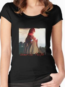 Beautiful People -  Sensual Sunset Women's Fitted Scoop T-Shirt