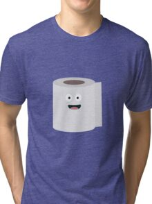 Toilet paper with face Tri-blend T-Shirt