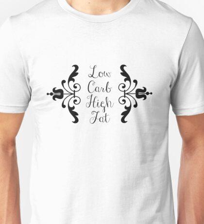Low Carb High Fat - Black Unisex T-Shirt