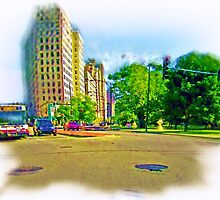 Air Brushed Lincoln Avenue  by allthingsnatura