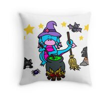 Drache Lilo als kleine Hexe Throw Pillow