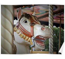 The Carousel horse with character Poster