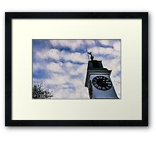 Clock Tower on Petrovaradin Fortress Framed Print