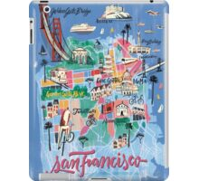 San Francisco illustrated Map iPad Case/Skin