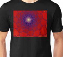 Dahlia Jewel, Large Fractal Unisex T-Shirt