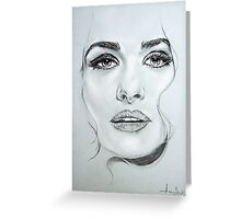 Rachel portrait in pencil Greeting Card