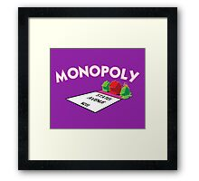 MONOPOLY - STATES AVENUE ON FIRE Framed Print
