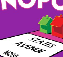 MONOPOLY - STATES AVENUE ON FIRE Sticker