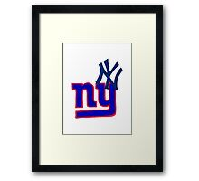 yankees and giants Framed Print