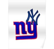 yankees and giants Poster