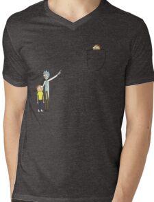Pocket Morty Mens V-Neck T-Shirt