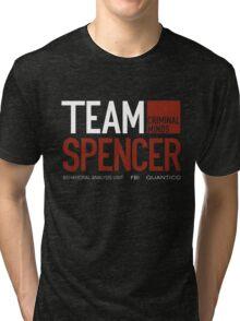 Team Spencer Reid (White on Black) Tri-blend T-Shirt