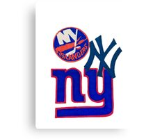 new york teams Canvas Print