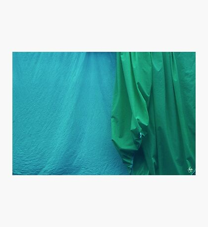 Two Sheets Abstract in AquaGreen Photographic Print