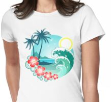 Hawaiian Island 2 Womens Fitted T-Shirt