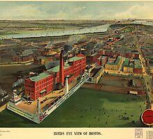 Vintage Pictorial map of Boston (1902) by BravuraMedia